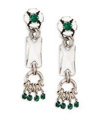 DANNIJO | Green Reef Crystal Drop Earrings | Lyst