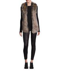 Splendid   Brown Faux Fur Open-front Vest   Lyst