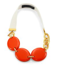 Marni | Orange Convertible Statement Necklace | Lyst