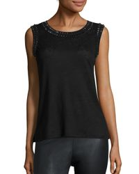 Generation Love | Black Fiona Crystal Tank Top | Lyst