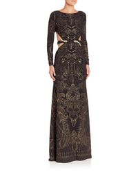 Roberto Cavalli   Multicolor Snake-detail Printed Cutout Gown   Lyst
