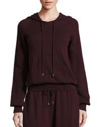 Helmut Lang | Multicolor Cashmere Hooded Sweatshirt | Lyst
