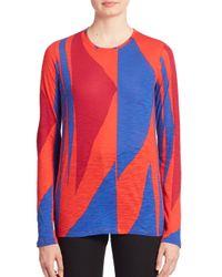 Proenza Schouler | Multicolor Printed Long Sleeve Shirt | Lyst