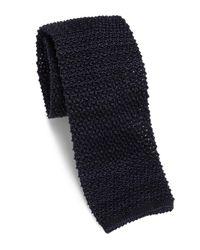 Eidos | Blue Cravatta Wool Blend Knit Skinny Tie for Men | Lyst