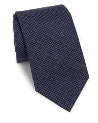 Brunello Cucinelli | Blue Houndstooth Silk Tie for Men | Lyst
