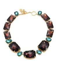 Tory Burch | Blue Crystal Stone Statement Necklace | Lyst