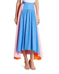 Peter Pilotto | Multicolored Panel Skirt | Lyst