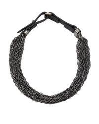 Brunello Cucinelli | Metallic Silver Beaded Necklace | Lyst