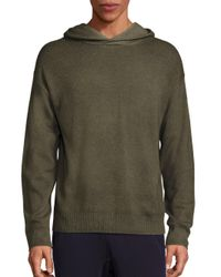 VINCE | Blue Wool & Cashmere Blend Hoodie for Men | Lyst