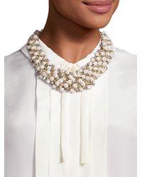 Weekend by Maxmara - Multicolor Dialogo Beaded Collar Necklace - Lyst