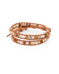 Chan Luu | Natural Jasper Mix Beaded Wrap Bracelet | Lyst