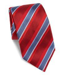 Brioni   Red Striped Silk Tie for Men   Lyst