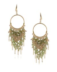 ABS By Allen Schwartz   Green Vibrant Vibes Beaded Chandelier Earrings   Lyst