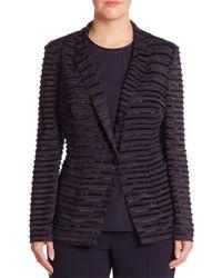 Basler Blue Sheer Textured Jacket