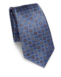 Saks Fifth Avenue | Blue Medallion Silk Tie for Men | Lyst