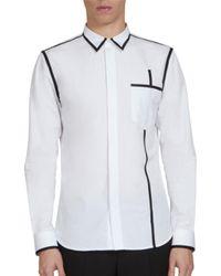 Givenchy White Grosgrain Outline Button-down Shirt for men