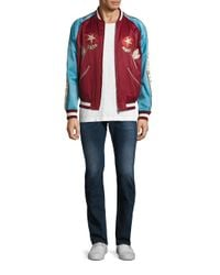 DIESEL - J-bakery Palm Embriodered Satin Stadium Jacket for Men - Lyst