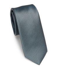Saks Fifth Avenue | Gray Micro Dot Silk Tie for Men | Lyst