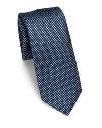 Saks Fifth Avenue   Blue Micro Dot Silk Tie for Men   Lyst