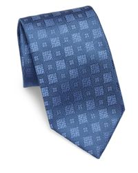 Charvet | Blue Textured Square Silk Tie for Men | Lyst