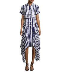 Prabal Gurung - Blue Short Sleeve Handkerchief Dress - Lyst
