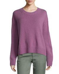 VINCE   Purple Cashmere Crewneck Sweater   Lyst