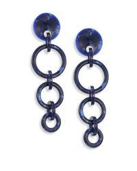 Lele Sadoughi | Blue Wind Chime Hoop Drop Earrings | Lyst