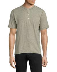 Billy Reid | Multicolor Short Sleeve Hunter Henley for Men | Lyst