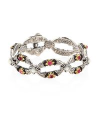 Konstantino | Multicolor Nemesis Pink Tourmaline & Mother-of-pearl Bracelet | Lyst