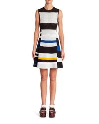 Proenza Schouler | Black Striped A-line Dress | Lyst