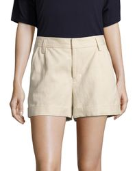 VINCE | Natural Slouchy Cuffed Shorts | Lyst