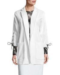 Max Mara - White Deruta Lace-up Jacket - Lyst
