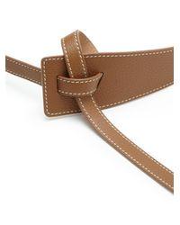 Max Mara | Brown Frais Leather Belt | Lyst