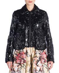 Fendi | Black Cermanic Leather Jacket | Lyst