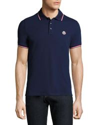 Moncler | Blue Maglia Short Sleeve Polo for Men | Lyst