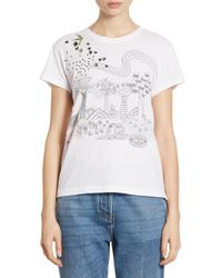 Valentino | White Garden Of Delight Embroidered Tee | Lyst
