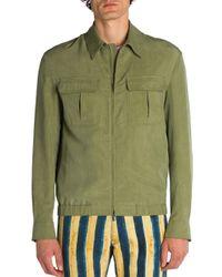 Fendi | Green Solid Jacket for Men | Lyst