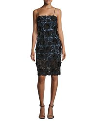 MILLY | Black Lace Strap Dress | Lyst