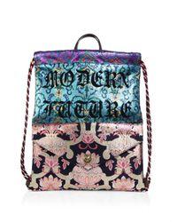 Gucci - Blue Gg Drawstring Techpack - Lyst