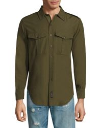 Rag & Bone Green Crawford Cotton Shirt for men