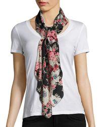Rag & Bone | White Kimono Floral Cotton & Silk Scarf | Lyst