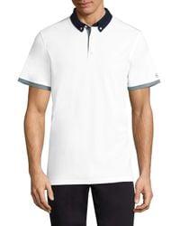 AG Green Label | White Deuce Color Block Polo for Men | Lyst