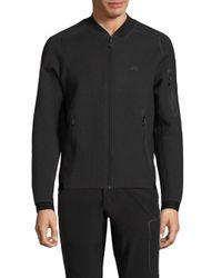 J.Lindeberg | Gray Zip Front Athletic Jacket for Men | Lyst