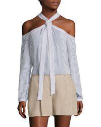 MICHAEL Michael Kors | Multicolor Wide Pleated Linen Shorts | Lyst