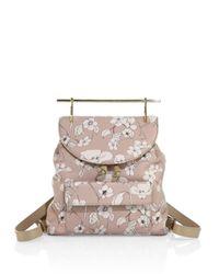 M2malletier Multicolor Flower-print Leather Backpack