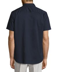Vince - Blue Reverse Placket Cotton Shirt for Men - Lyst