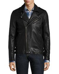 IRO | Black Zip Front Lambskin Leather Jacket for Men | Lyst