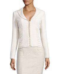 Nanette Lepore | Natural Ruched Corset Jacket | Lyst