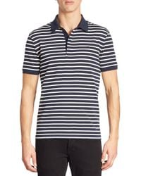 Lacoste | Blue Slim-fit Striped Polo for Men | Lyst