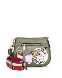 Marc Jacobs | Green Patchwork Saddle Bag | Lyst